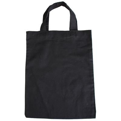 Picture of BLACK COTTON SHOPPER TOTE BAG