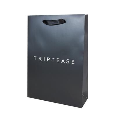Picture of SERPAH LUXURY PAPER CARRIER BAG with Gloss Finish & Short Ribbon Handles