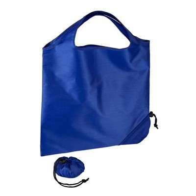 Picture of TRIUMPH SCRUNCHIE BLUE POLYESTER FOLDING SHOPPER TOTE BAG with Pouch