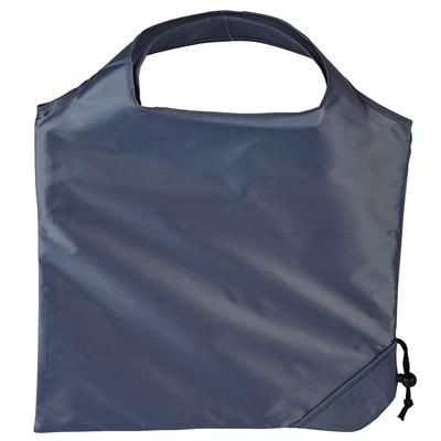 Picture of TRIUMPH SCRUNCHIE GREY POLYESTER FOLDING SHOPPER TOTE BAG with Pouch