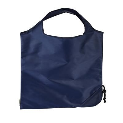 Picture of TRIUMPH SCRUNCHIE NAVY POLYESTER FOLDING SHOPPER TOTE BAG with Pouch