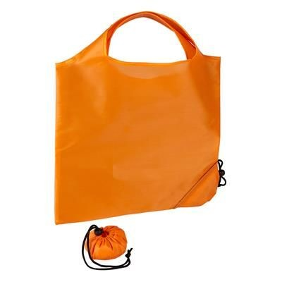 Picture of TRIUMPH SCRUNCHIE ORANGE POLYESTER FOLDING SHOPPER TOTE BAG with Pouch