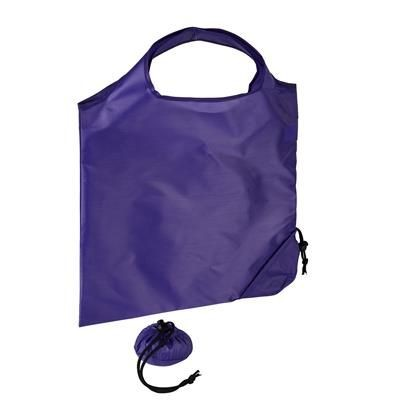 Picture of TRIUMPH SCRUNCHIE PURPLE POLYESTER FOLDING SHOPPER TOTE BAG with Pouch