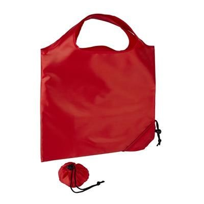 Picture of TRIUMPH SCRUNCHIE RED POLYESTER FOLDING SHOPPER TOTE BAG with Pouch