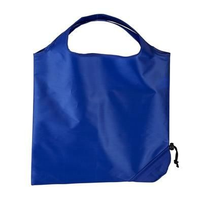 Picture of TRIUMPH SCRUNCHIE REFLEX BLUE POLYESTER FOLDING SHOPPER TOTE BAG with Pouch