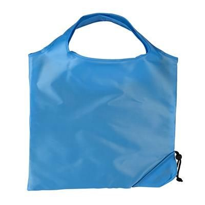 Picture of TRIUMPH SCRUNCHIE TURQUOISE POLYESTER FOLDING SHOPPER TOTE BAG with Pouch