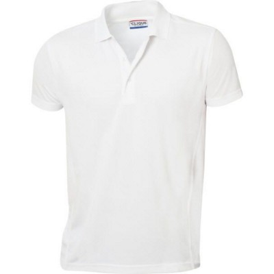 Picture of CLIQUE UNISEX ICE POLYESTER PIQUE STYLE POLO SHIRT with 3 Button Placket & Side Panels with Flat L