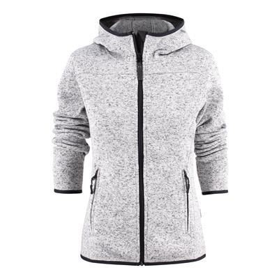 Picture of HARVEST FATHER CHRISTMAS SANTA ANA LADIES HEAVY KNIT FLEECE JACKET in Grey