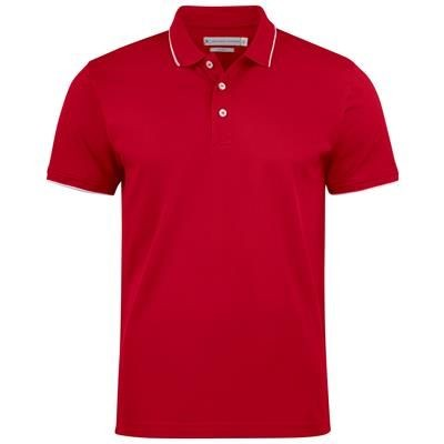 Picture of GREENVILLE MODERN POLO SHIRT with Classic White Stripe at Collar & Sleeve