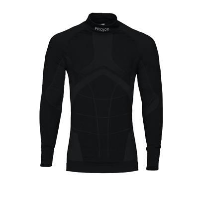 Picture of FUNCTIONAL CREW NECK TOP in Black with Cool Design