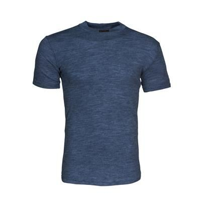 Picture of SHORTSLEEVE ROUND NECK UNDERSHIRT in Blue Melange