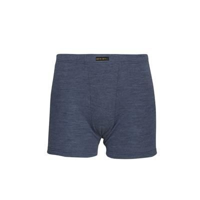 Picture of BOXER SHORTS in Blue Melange with Elastic Waist