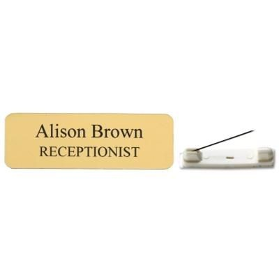 Picture of CUSTOMISED ENGRAVED NAME BADGE 75 X 25MM