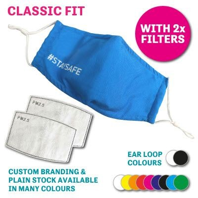 Picture of CLASSIC FIT REUSABLE FACE MASK WITH 2 x FILTERS