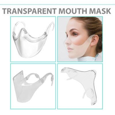 Picture of 100% FULLY CLEAR TRANSPARENT MOUTH MASK