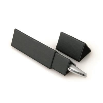 Picture of TRIANGULAR PEN CARD BOX in Black