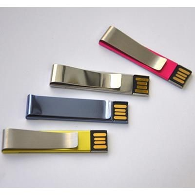 Picture of METAL CLIP STYLE USB MEMORY STICK SIZE: 47x16mm Print Size: 40x12mm Front Side, 40*9mm Back Side