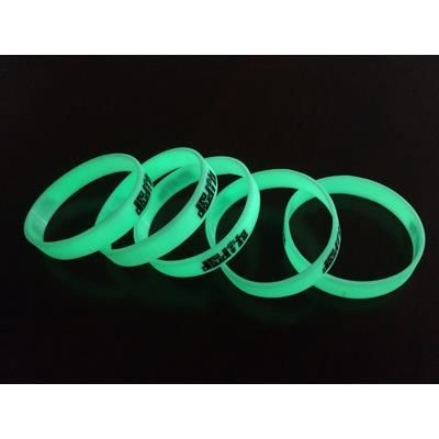 Picture of GLOW-IN-THE-DARK SILICON WRISTBAND