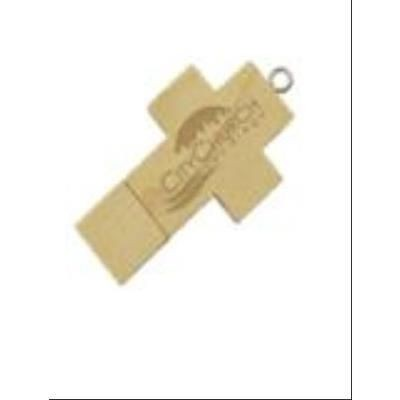 Picture of WOOD CROSS USB