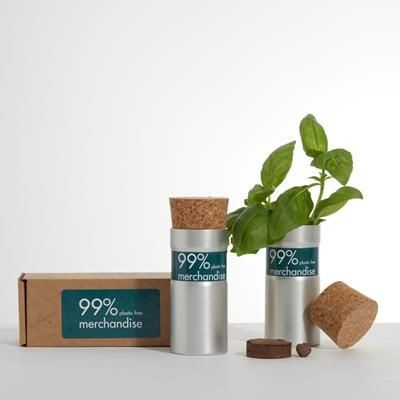 Picture of DESK TOP GARDEN - BOXED - URBAN MIX in Silver