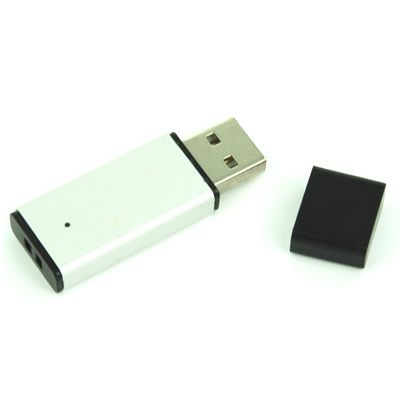 Picture of USB FLASH DRIVE MEMORY STICK in Silver Stainless Steel Metal Finish