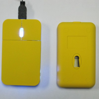 Picture of FLAT USB OPTICAL COMPUTER MOUSE in Black