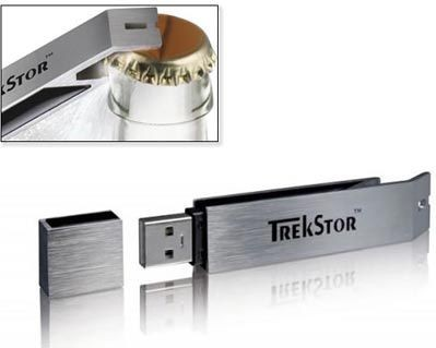 Picture of USB FLASH DRIVE MEMORY STICK & BOTTLE OPENER in Silver
