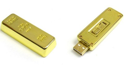 Picture of GOLD INGOT USB FLASH DRIVE MEMORY STICK