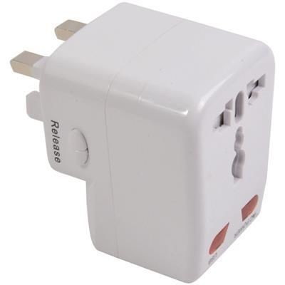 Picture of UNIVERSAL ADAPTOR TRAVEL PLUG with USB Port