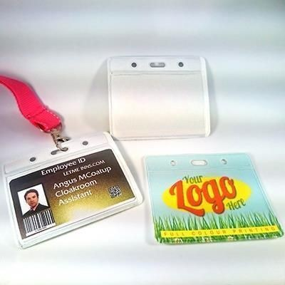 Picture of FULL COLOUR DIGITAL PRINTED PVC BADGE LANYARD HOLDER