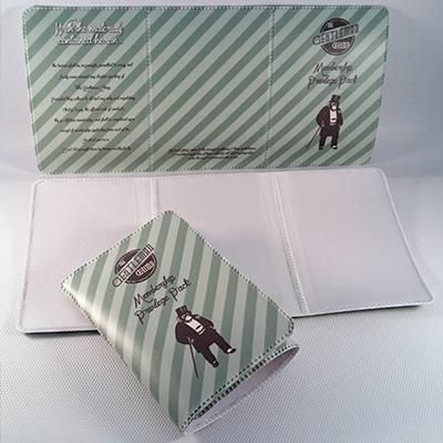 Picture of FULL COLOUR DIGITAL PRINTED PVC 3 POCKET RAIL CARD HOLDER