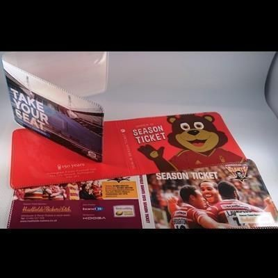 Picture of FULL COLOUR DIGITAL PRINTED PVC SEASON TICKET BOOKLET HOLDER