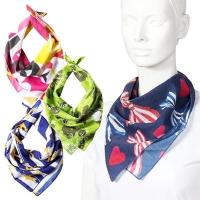 Picture of BESPOKE PRINTED COTTON SQUARE BANDANA