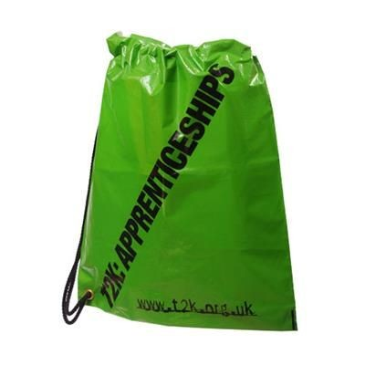 Picture of DRAWSTRING POLYTHENE PLASTIC DUFFLE BAG
