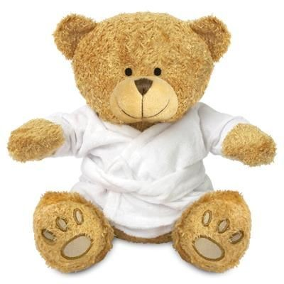 Picture of BLANK PLUSH SOFT TOY EDWARD II TEDDY BEAR with Dressing Gown