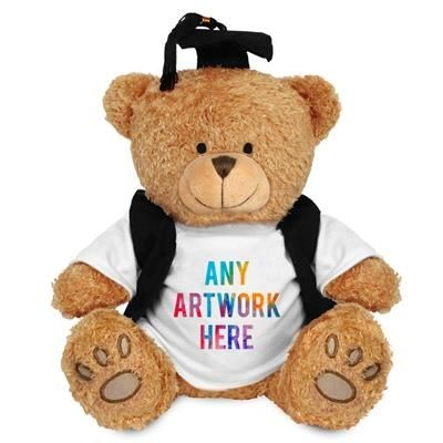 Picture of PRINTED PROMOTIONAL SOFT TOY EDWARD I TEDDY BEAR with Gradution Outfit