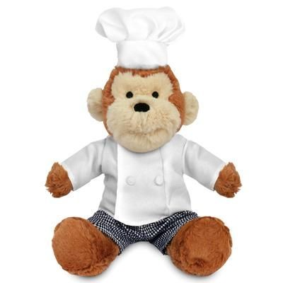 Picture of BLANK PLUSH SOFT TOY 20CM MAX MONKEY with Chef Outfit