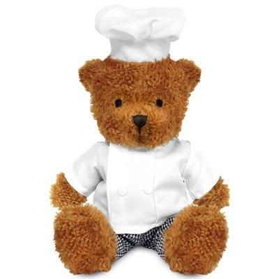 Picture of BLANK PLUSH SOFT TOY JAMES II TEDDY BEAR with Chef Outfit
