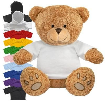 Picture of BLANK PLUSH SOFT TOY EDWARD I TEDDY BEAR with Colour Tee Shirt or Hoody