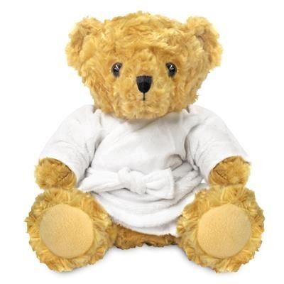 Picture of BLANK PLUSH SOFT TOY 19CM VICTORIA TEDDY BEAR with Dressing Gown