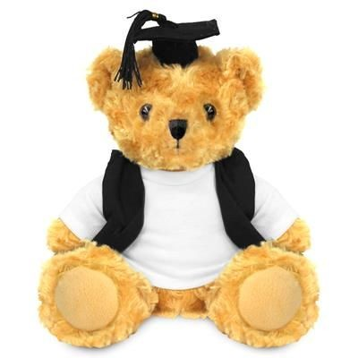 Picture of BLANK PLUSH SOFT TOY 19CM VICTORIA TEDDY BEAR with Graduation Outfit