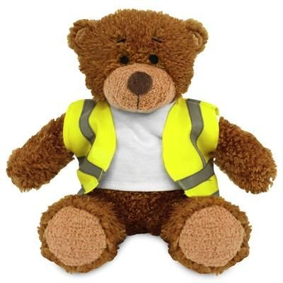 Picture of BLANK PLUSH SOFT TOY ANNE TEDDY BEAR HI-VIS VEST