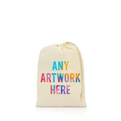 Picture of PRINTED PROMOTIONAL MEDIUM SIZE DRAWSTRING BAG