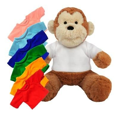 Picture of PRINTED PROMOTIONAL SOFT TOY 20CM MAX MONKEY with Colour Tee Shirt