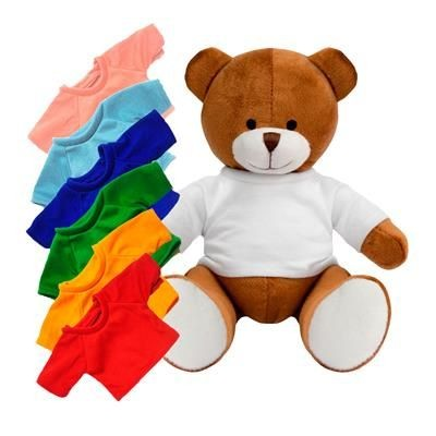 Picture of PRINTED PROMOTIONAL SOFT TOY RICHARD TEDDY BEAR with Colour Tee Shirt