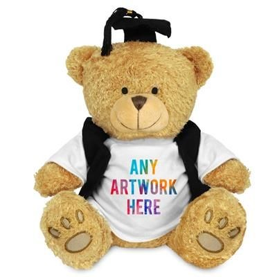 Picture of PRINTED PROMOTIONAL SOFT TOY EDWARD II TEDDY BEAR with Gradution Outfit
