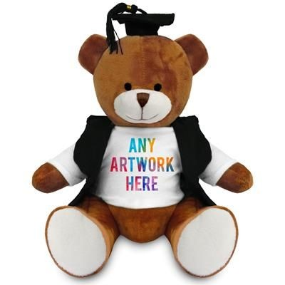 Picture of PRINTED PROMOTIONAL SOFT TOY RICHARD TEDDY BEAR with Graduation Outfit