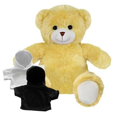 Picture of PRINTED PROMOTIONAL SOFT TOY 20CM ELIZABETH TEDDY BEAR with Hoody
