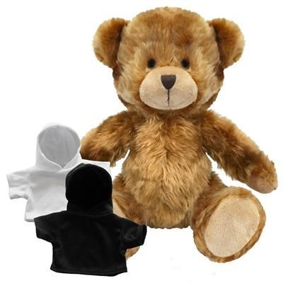 Picture of PRINTED PROMOTIONAL SOFT TOY CHARLES TEDDY BEAR with Hoody