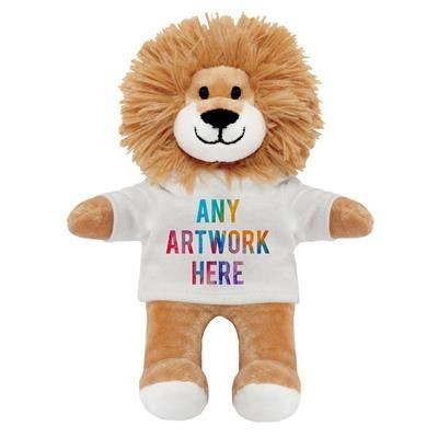 Picture of PRINTED PROMOTIONAL SOFT TOY LOUIS LION TEDDY BEAR